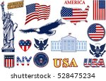 symbols of the usa | Shutterstock .eps vector #528475234