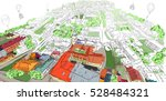sketch fantastic city | Shutterstock . vector #528484321