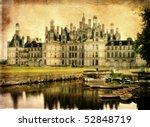 Chambord castle - artistic retro styled picture - stock photo
