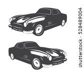 vintage muscle car. vector... | Shutterstock .eps vector #528489004