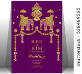 indian wedding card  elephant...   Shutterstock .eps vector #528489235