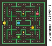 pac man analog. game concept... | Shutterstock .eps vector #528495445