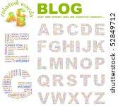 blog. vector letter collection. ... | Shutterstock .eps vector #52849712
