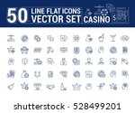 vector graphic set of icons in... | Shutterstock .eps vector #528499201