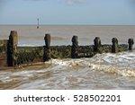 wooden breakwater  groyne ... | Shutterstock . vector #528502201