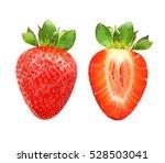 photos red ripe strawberries... | Shutterstock . vector #528503041