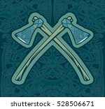 figure of the vikings. blue... | Shutterstock .eps vector #528506671