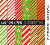 candy cane stripes and... | Shutterstock .eps vector #528510937