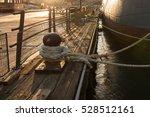Boat Docked At A Mooring...
