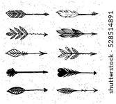 set of arrows in native... | Shutterstock .eps vector #528514891