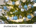 decorated christmas tree with... | Shutterstock . vector #528516301