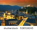 Night View Of Salzburg  Austria