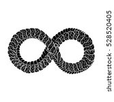 snake curled in infinity ring.... | Shutterstock .eps vector #528520405