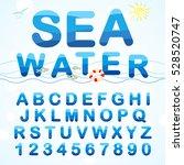water abc. alphabet font made... | Shutterstock .eps vector #528520747