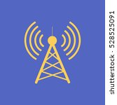 antenna.vector icon. radio... | Shutterstock .eps vector #528525091