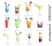 set of alcoholic cocktails... | Shutterstock .eps vector #528532267