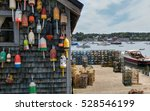 new england lobster fishing... | Shutterstock . vector #528546199