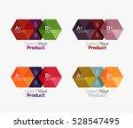 vector business geometric... | Shutterstock .eps vector #528547495