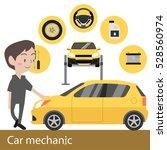 car mechanic vector illustration   Shutterstock .eps vector #528560974