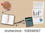 finance calculator desk table... | Shutterstock .eps vector #528568567
