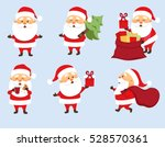 santa claus christmas set.... | Shutterstock .eps vector #528570361