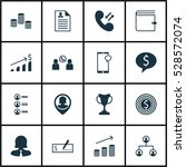 set of 16 management icons. can ...