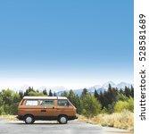 Vintage Van In Mountain...