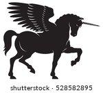 winged unicorn vector vector... | Shutterstock .eps vector #528582895