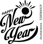 happy new year  | Shutterstock .eps vector #528584419