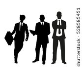 business people on silhouettes | Shutterstock .eps vector #528585451