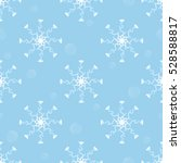 seamless snowflakes pattern... | Shutterstock .eps vector #528588817