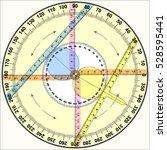 circle trigonometry   Shutterstock .eps vector #528595441