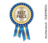 blue best price badge   rosette ... | Shutterstock .eps vector #528598051