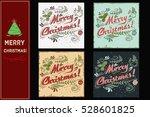 merry christmas. christmas set. ... | Shutterstock . vector #528601825