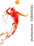abstract female volleyball... | Shutterstock .eps vector #528604261