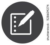registration icon  flat design... | Shutterstock .eps vector #528609274