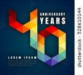 anniversary emblems celebration ... | Shutterstock .eps vector #528610144