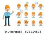 set of construction man... | Shutterstock .eps vector #528614635