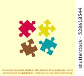puzzle  vector illustration. | Shutterstock .eps vector #528618544