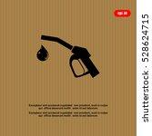 gun for fuel pump with a drop... | Shutterstock .eps vector #528624715