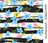 illustration of floral seamless.... | Shutterstock . vector #528627499