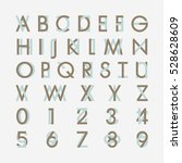 alphabetic fonts and numbers | Shutterstock .eps vector #528628609