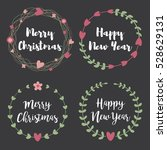 christmas labels and badges.... | Shutterstock .eps vector #528629131