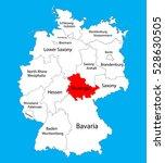 thuringen state map  germany ... | Shutterstock .eps vector #528630505