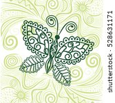 beautiful butterfly. vector... | Shutterstock .eps vector #528631171