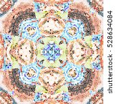 mosaic colorful artistic... | Shutterstock . vector #528634084