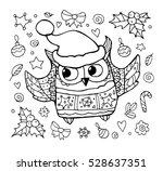 Owl Isolated. Merry Christmas....