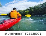 Traveling By Kayak On The River ...