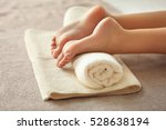 spa concept. female feet on... | Shutterstock . vector #528638194