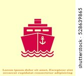 ship icon  vector illustration. ... | Shutterstock .eps vector #528639865